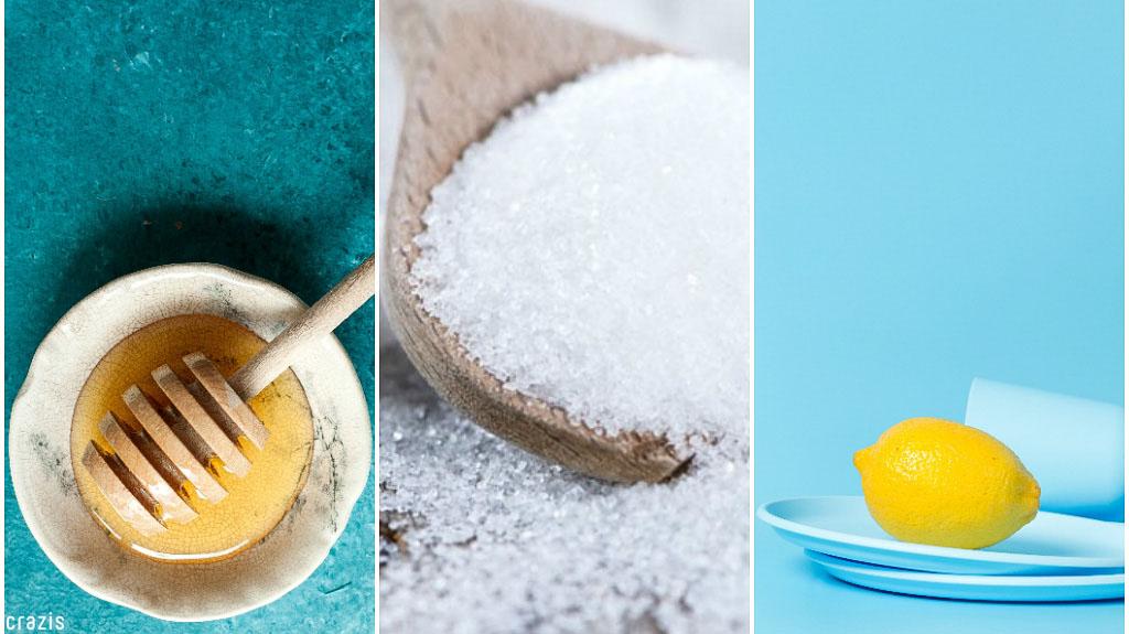 tẩy tế bào chết cho body với đường, mật ong, chanh