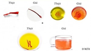 Cách nhận biết Saffron